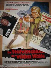 DIE TEUFELSSCHLUCHT DER WILDEN WÖLFE 20 AUSHANGFOTOS 2 PLAKATE Franco Nero FULCI