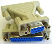 Serial Cable / Port Adapter / RS232 Gender Changer, DB9 Female to DB25 Female