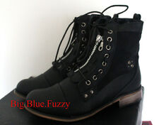 ~BLACK LACE~ Combat Chrome Steam Punk Womens Ankle Boots sz 7 NEW Petite Cosplay