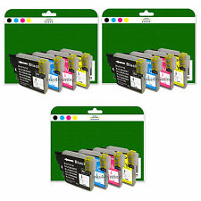 Any 12 Ink Cartridges for Brother DCP-J125 J140W J315W J515W non-OEM LC985