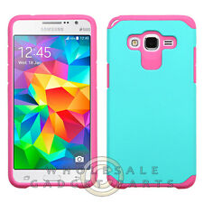 Samsung Grand Prime Advanced Armor Case - Teal/Hot Pink Protector Guard Shield