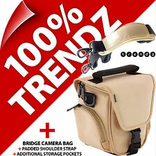 New Trendz Bridge Camera Soft Carry Case Bag + Strap for Nikon Sony Samsung Fuji