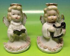 Set of 2 Vintage Japan Hand Painted porcelain Angel figurines