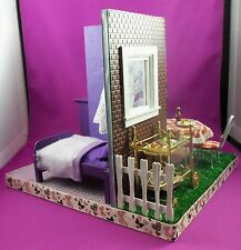 Dollhouse Miniature Bed and Breakfast Roombox Scene