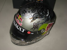 SEBASTIAN VETTEL HAND SIGNED 1:2 SCALE HELMET UNFRAMED + PHOTO PROOF C.O.A