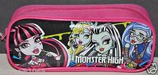 MONSTER HIGH PENCIL PEN BAG CASE POUCH COSMETIC BAG BLACK STOCKING STUFFER MATEL