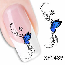 NAIL ART DIY DECAL TIPS 3D Retro Butterfly WATER TRANSFER STICKERS Decoration
