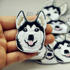 Husky Dog Pattern Embroidered Applique Patches Decor Sew Iron on Accessories