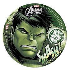 Avengers Assemble Teens The Hulk Paper Party Dinner Plates x 8