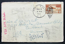 Canal Zone Postage 15c Fort Davis 1940 Patriotic Airmail Cover USA Brief (L-2782