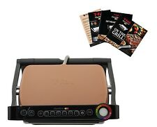 T-FAL GC704 OPTIGRILL W/ RECIPE BOOKS INDOOR ELECTRIC GRILL REMOVABLE PLATES NEW