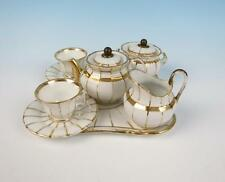 Antique Paris Porcelain Child's Tea Cabaret Set French Empire Vieux Cup & Saucer