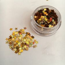 Gold Stars Glitter: Face and Body Festival Cosmetic Glitter