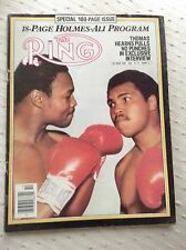 MUHAMMAD ALI, THE RING 100pg MAGAZINE LARRY HOLMES BOXING HOFers COVER OCT. 1980