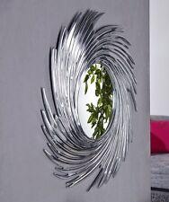 Sonne Rund Runder DESIGNER Wandspiegel 80 cm SILBER Aluminium Rahmen B Ware Nr2