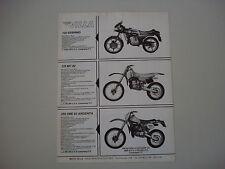 advertising Pubblicità 1982 MOTO VILLA 125 SEBRING/125 MC 82/250 SM