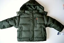 NWT Polo Ralph Lauren down Jacket 2T 2 year boy winter coat olive green