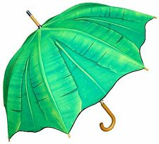 "48"" Palm Banana Tree Auto-Open Umbrella - RainStoppers, Rain/Sun UV"