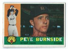 Pete Burnside signed 1960 Topps baseball card, Detroit Tigers autograph #261