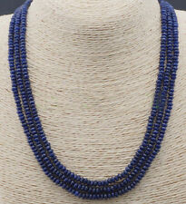 """2X4mm NATURAL FACETED DARK BLUE SAPPHIRE GEMS BEADS NECKLACES 54"""""""