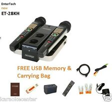 NEW MAGIC SING ET28KH karaoke 2600 TAGALOG ENGLISH SONGS 2 WIRELESS MICS USB BAG