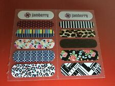 2 Jamberry Wrap Sample Cards - All 10 New Fall/Winter 2014 Accents - Retired