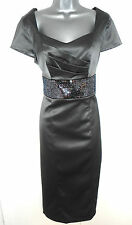 BNWT Berkertex  Metallic Embellished Satin Shift Evening Occasion Dress Size 12