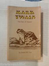 THE FATE OF HUMOR Mark Twain James M Cox 1976 Inglese libro romanzo narrativa di