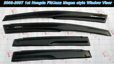 Mugen Style Window Vent Visor For Honda 03-07 Fit/Jazz Hatchback