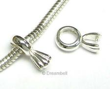 1 X Sterling Silver Pinch Pendant Bail Clasp Connector sb264w