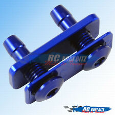 RC Boat Dual water outlet for small hose blue