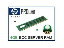 EQ HP 4GB PC3-10600E DDR3-1333 ECC Unbuffered UDimm Server Memory Ram 500672-B21