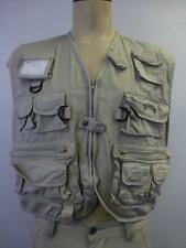 mens Field & Stream khaki fly fishing VEST zip pockets jig trolling Large XL
