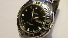 Mens SS Armitron Steel watch 20/4208sv w/ new battery (in awesome cond)