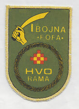 CROATIA ARMY - HVO -  1 HVO Battalion FOFA from RAMA , very rare sleeve patch