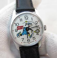 "GOOFY,""Sport Goofy"" Like Mickey Mouse Manual Wind,RARE KIDS CHARACTER WATCH,1540"