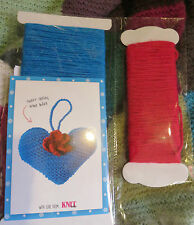 Heart and Flower Door Hanger Knitting Kit