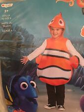 Finding Dory Nemo Fish Child Costume NEW One Size Fits Up to Size 6 NWT
