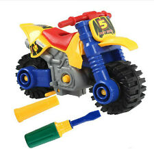DIY Assembly Motorcycle Toy Model Building Kid's Educational Tinker toys
