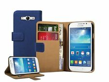 Wallet BLUE Leather Flip Case Cover Pouch for Samsung Galaxy Grand Neo GT-i9060