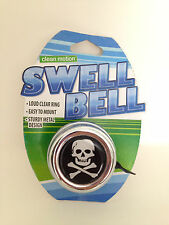 BICYCLE BIKE SKULL PIRATE CROSSBONES BELL BLACK NEW