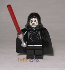 Lego Custom Sith Lord with Hood + Cape Star Wars Minifig Palpatine Style cus200