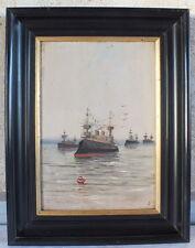 hsp huile sur panneau Louis Dupuy bateau E. Galien Laloue tableau painting boat