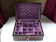 """ANTIQUE VICTORIAN / GEORGIAN ROSEWOOD & MOTHER OF PEARL INLAID JEWELLERY BOX 12"""""""