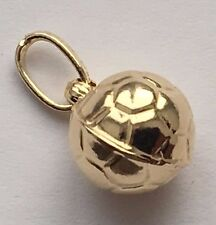 14 K YELLOW GOLD SOCCER BALL PENDANT CHARM MADE IN ITALY FREE SHIPPING