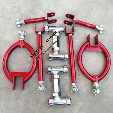 Red Front Camber + Rear Camber + Toe + Traction Arm for NISSAN 300ZX Z32 90-96