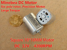 DC 12V 4200RPM Groß Torque Six Pole Rotor 18MM Mini Small Square Type DC Motor