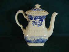 "Copeland Spode Old Salem 8 1/2"" Large Coffee Pot and Lid"