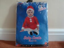 Baby Santa Dress & Hat Fancy Dress size 6-12 months