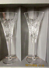 WATERFORD CRYSTAL TOASTING CHAMPAGNE FLUTES HEALTH Retired 2000